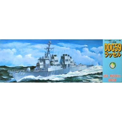 Maquette bateau : Destroyer USS Russell DDG59 - Fujimi-40065