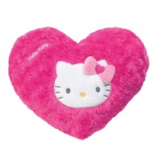 Coussin coeur Hello Kitty : Rose