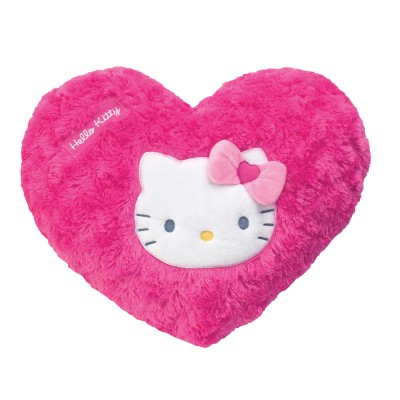 fun house coussin coeur hello kitty  rose