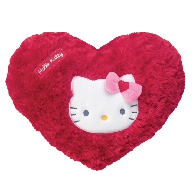 fun house coussin coeur hello kitty  rouge