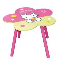 Table fleur en bois : Hello Kitty