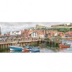 Puzzle 636 pièces panoramique - Port de Whitby