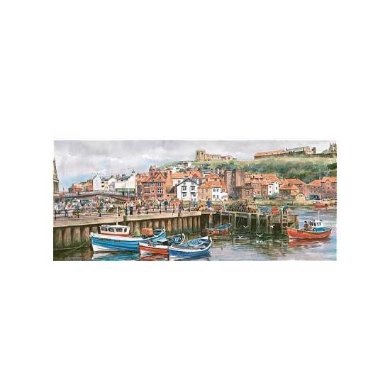 Puzzle 636 pièces panoramique - Port de Whitby - Gibsons-G374