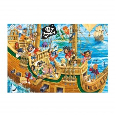 Puzzle 100 pièces : Trouvez les intrus : Bateau de pirates