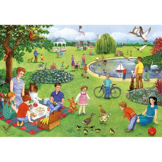 Puzzle 100 pièces XXL : Pique-nique au parc - Gibsons-G2206