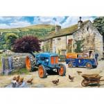 Puzzle 100 pièces XXL : Tracteur flambant neuf