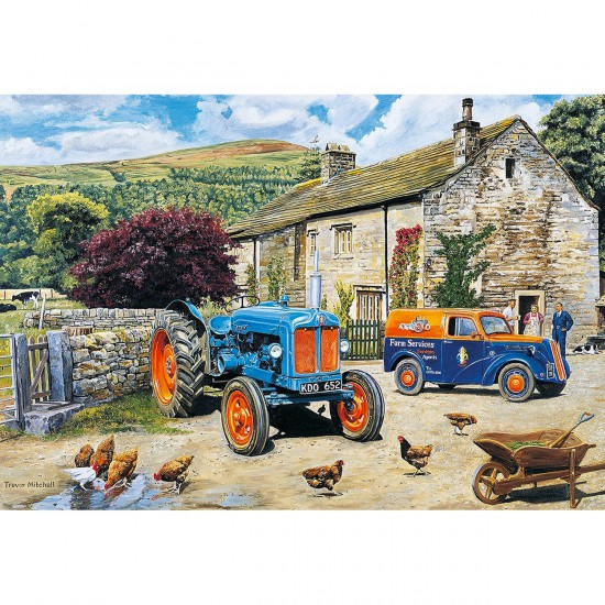 Puzzle 100 pièces XXL : Tracteur flambant neuf - Gibsons-G2207
