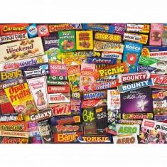 Puzzle 1000 pièces - Souvenirs sucrés des années 80