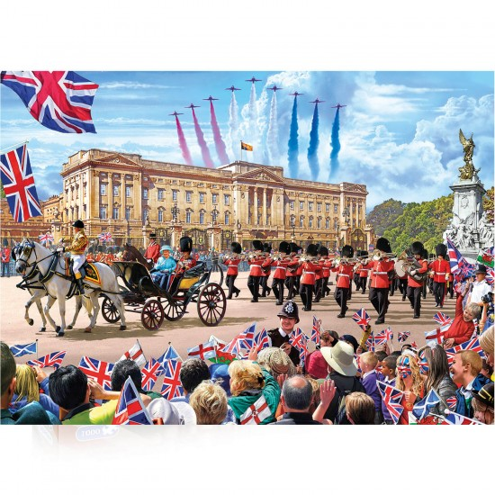 Puzzle 1000 pièces : Buckingham Palace - Gibsons-G7065