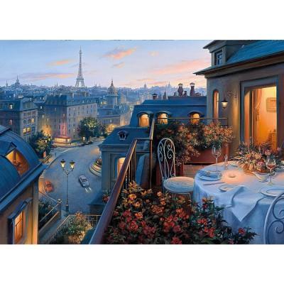 puzzle 1000 pi ces d ner romantique paris puzzle gibsons rue des puzzles. Black Bedroom Furniture Sets. Home Design Ideas