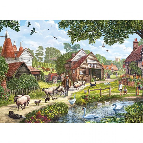 Puzzle 1000 pièces : Douce campagne - Gibsons-G6143