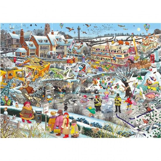 Puzzle 1000 pièces : I Love Winter - Gibsons-G7056