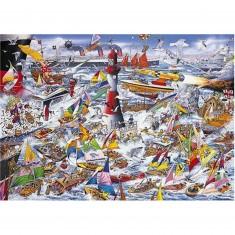Puzzle 1000 pièces : J'aime les bateaux