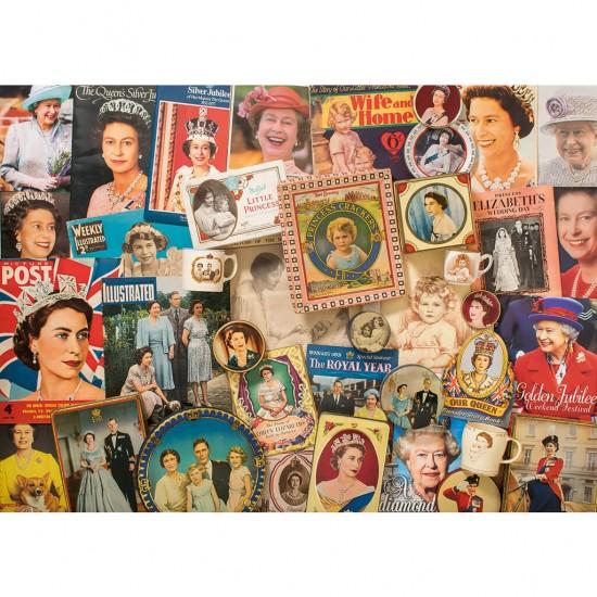 Puzzle 1000 pièces : La Reine Elizabeth II - Gibsons-G7076