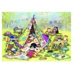 Puzzle 1000 pièces : Linda Jane Smith : Les chats en camping