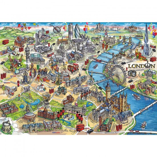 Puzzle 1000 pièces : London Landmarks - Gibsons-G7066