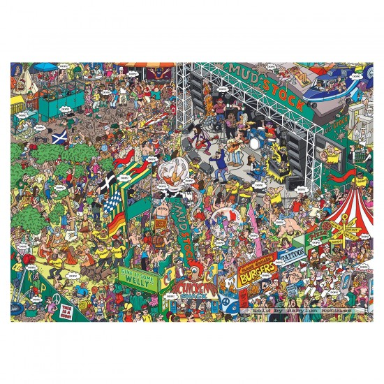 Puzzle 1000 pièces : Martin Berry : Oops! Concert des Mudstock - Gibsons-G7061