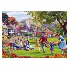 Puzzle 1000 pièces : Mat Edwards : Pique-nique dans l'herbe