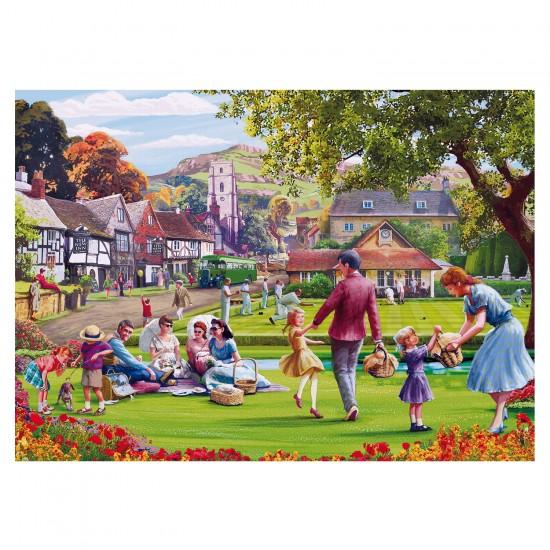 Puzzle 1000 pièces : Mat Edwards : Pique-nique dans l'herbe - Gibsons-G6194