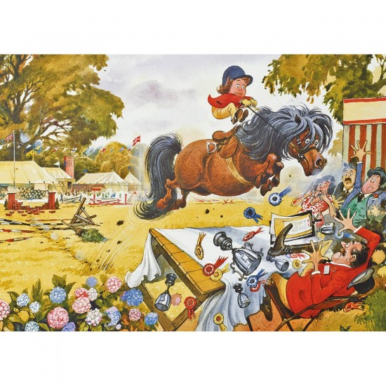 Puzzle 1000 pièces : Norman Thelwell : Up for the cup - Gibsons-G7070
