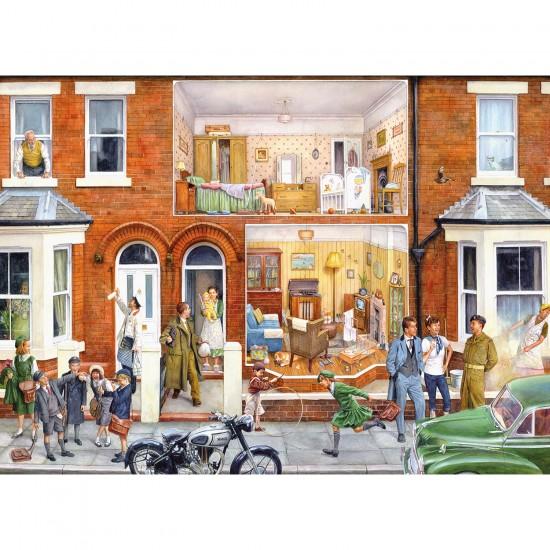 Puzzle 1000 pièces : Nostalgie : Notre maison dans les années 1950 - Gibsons-G7058