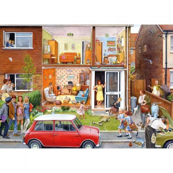 Puzzle 1000 pièces : Nostalgie : Notre maison dans les années 1960 - Gibsons-G7059