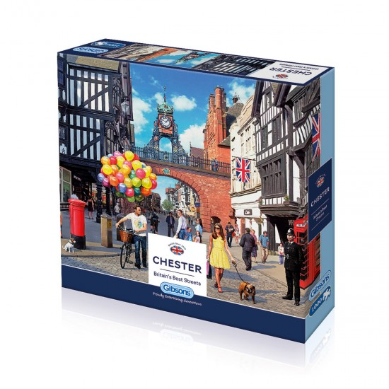 Puzzle 1000 pièces : Rues anglaises : Chester - Gibsons-G7074