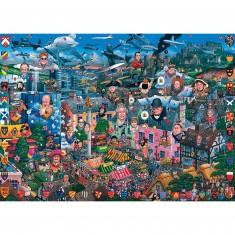 Puzzle 1000 pièces - J'aime la Grande Bretagne