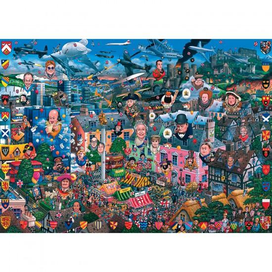 Puzzle 1000 pièces - J'aime la Grande Bretagne - Gibsons-G0469