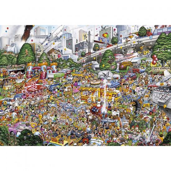 Puzzle 1000 pièces - Les embouteillages - Gibsons-G0509