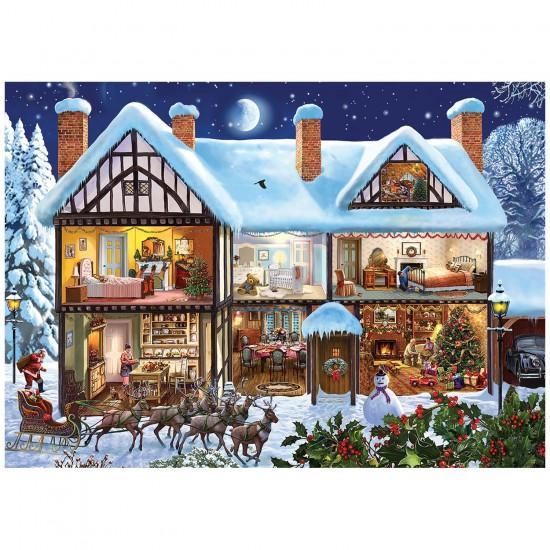 Puzzle 1000 pièces Steve Crisp : La tournée du Père Noël - Gibsons-G6155
