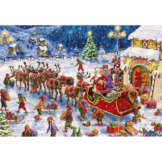 Puzzle 150 pièces : Les lutins du Père Noël - Gibsons-G1113