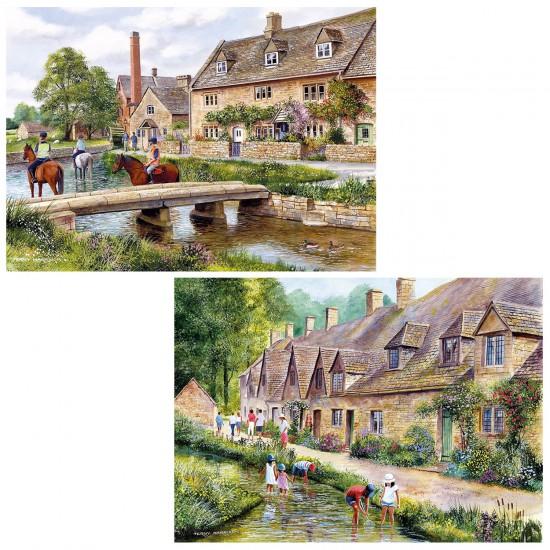 Puzzle 2 x 1000 pièces : Villages des Cotswolds - Gibsons-G5028