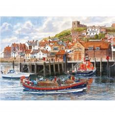 Puzzle 2 x 1000 pièces : Le port de Whitby