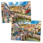 Puzzle 2 x 500 pièces : Hier et aujourd'hui