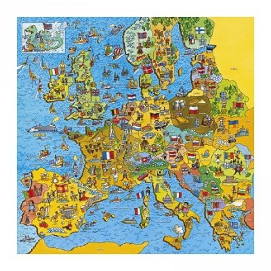 Puzzle 200 pièces - Carte de l'Europe - Gibsons-G1010