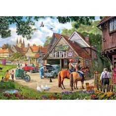 Puzzle 2000 pièces : Dimanche après-midi au village