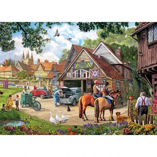 Puzzle 2000 pièces : Dimanche après-midi au village - Gibsons-G8012