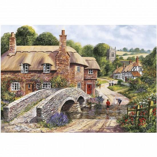Puzzle 2000 pièces : Le pont de pierre - Gibsons-G8005