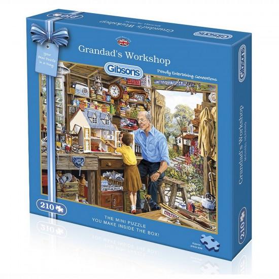 Puzzle 210 pièces : Mini puzzle : Dans l'atelier de Papy - Gibsons-G2300
