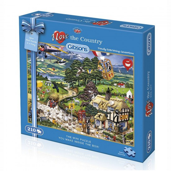 Puzzle 210 pièces : Mini puzzle : I love the country - Gibsons-G2302