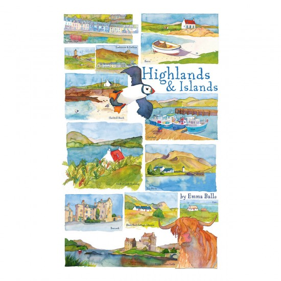 Puzzle 250 pièces : Emma Ball : Highlands & Islands - Gibsons-G2515