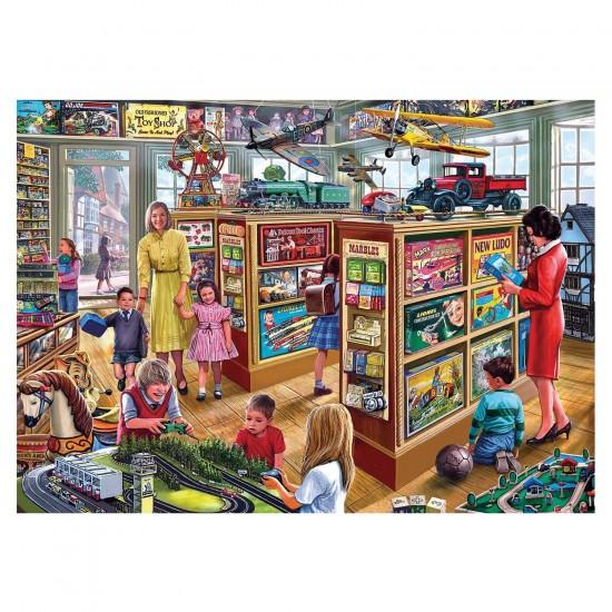 Puzzle 250 pièces XL : Steve Crisp : Le magasin de jeux et jouets - Gibsons-G2707