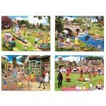 Puzzle 4 x 500 pièces - La fin de l'été