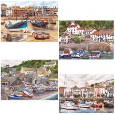 Puzzle 4 x 500 pièces : Ports anglais