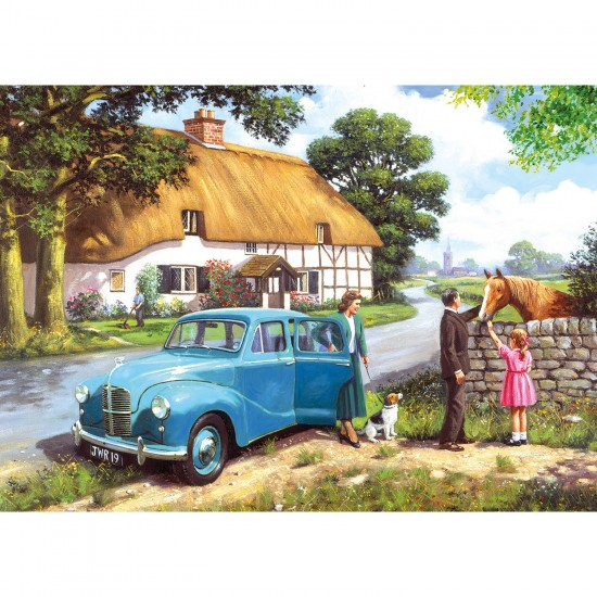 Puzzle 4 x 500 pièces : Voiture - Gibsons-G5034