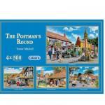 Puzzle 4 x 500 pièces - L'arrivée du facteur