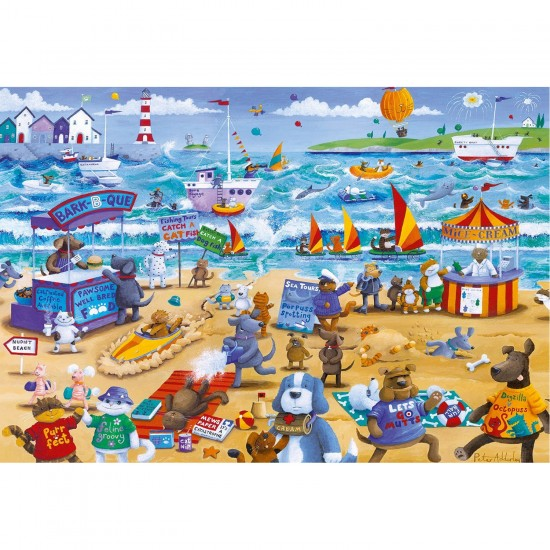 Puzzle 500 pièces : Beach Buddies - Gibsons-G3087