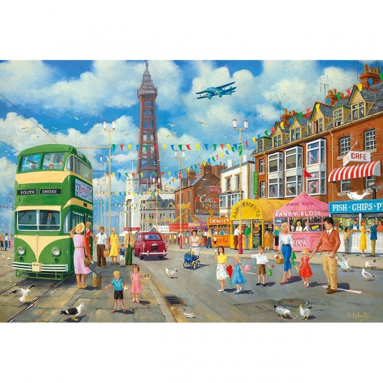 Puzzle 500 pièces : Blackpool Promenade - Gibsons-G3075