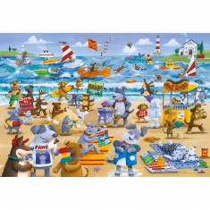 Puzzle 500 pièces : Doggy Paddle
